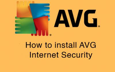 Installing AVG Internet Security on Windows