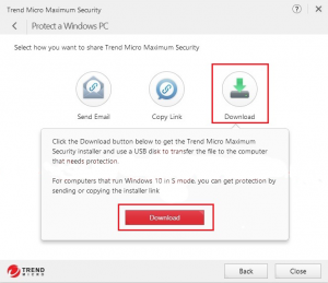 Trend Micro Maximum Security on another device . 0