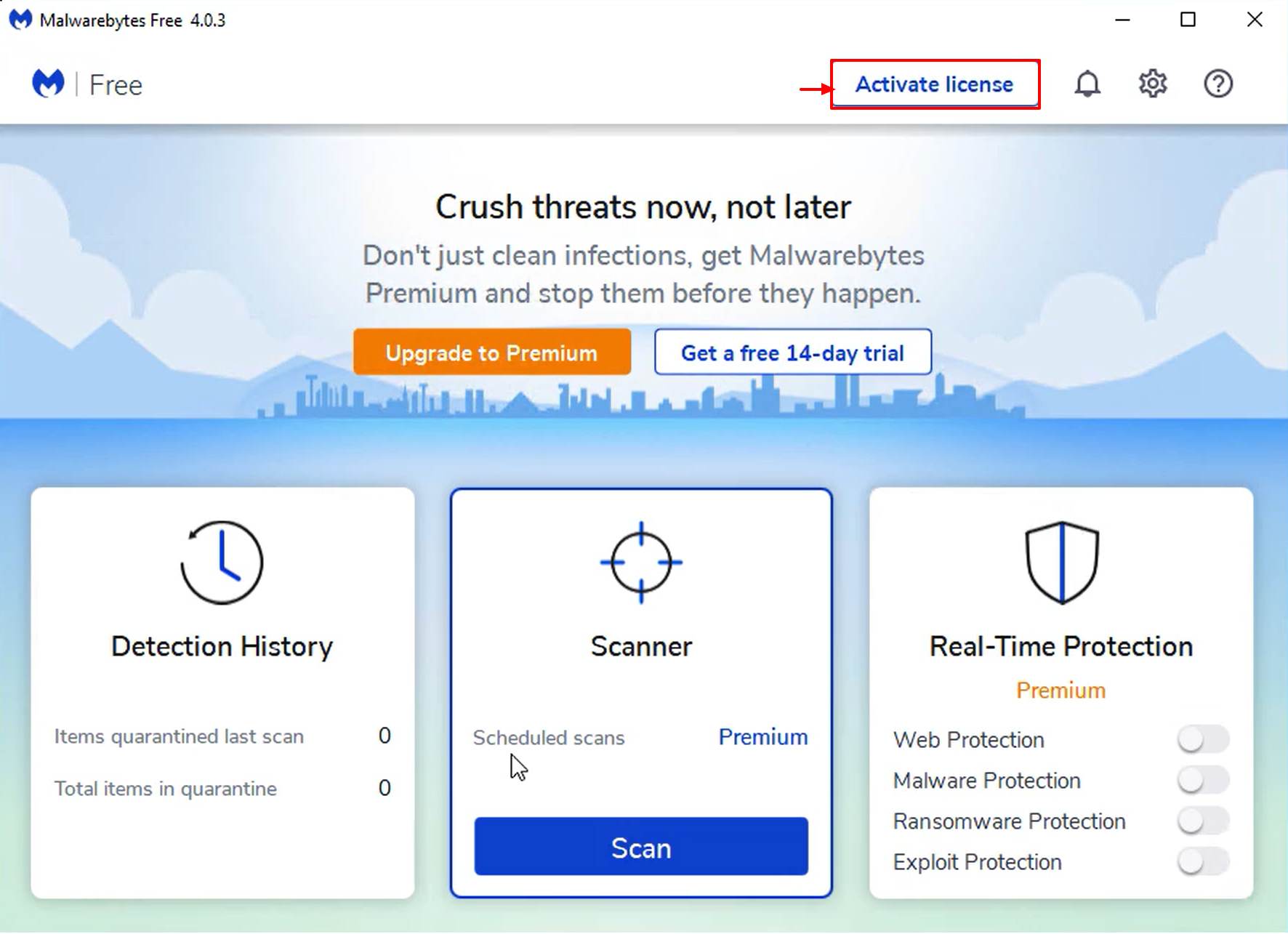 Install and Activate Malwarebytes for Windows v4 - activate