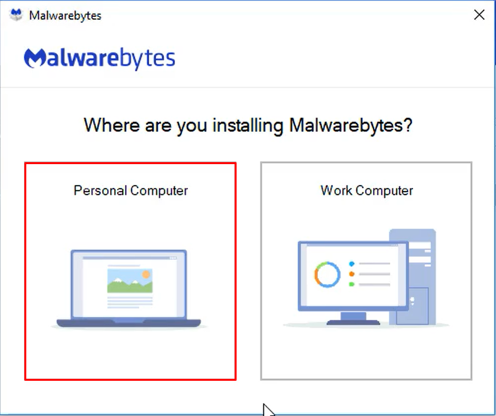Install and Activate Malwarebytes for Windows v4 - choose