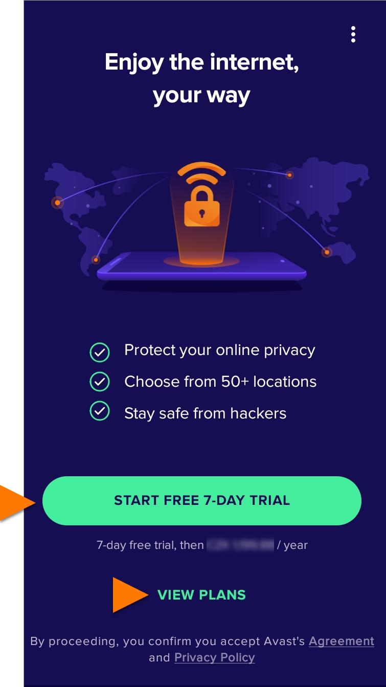 Secureline VPN Android - 1