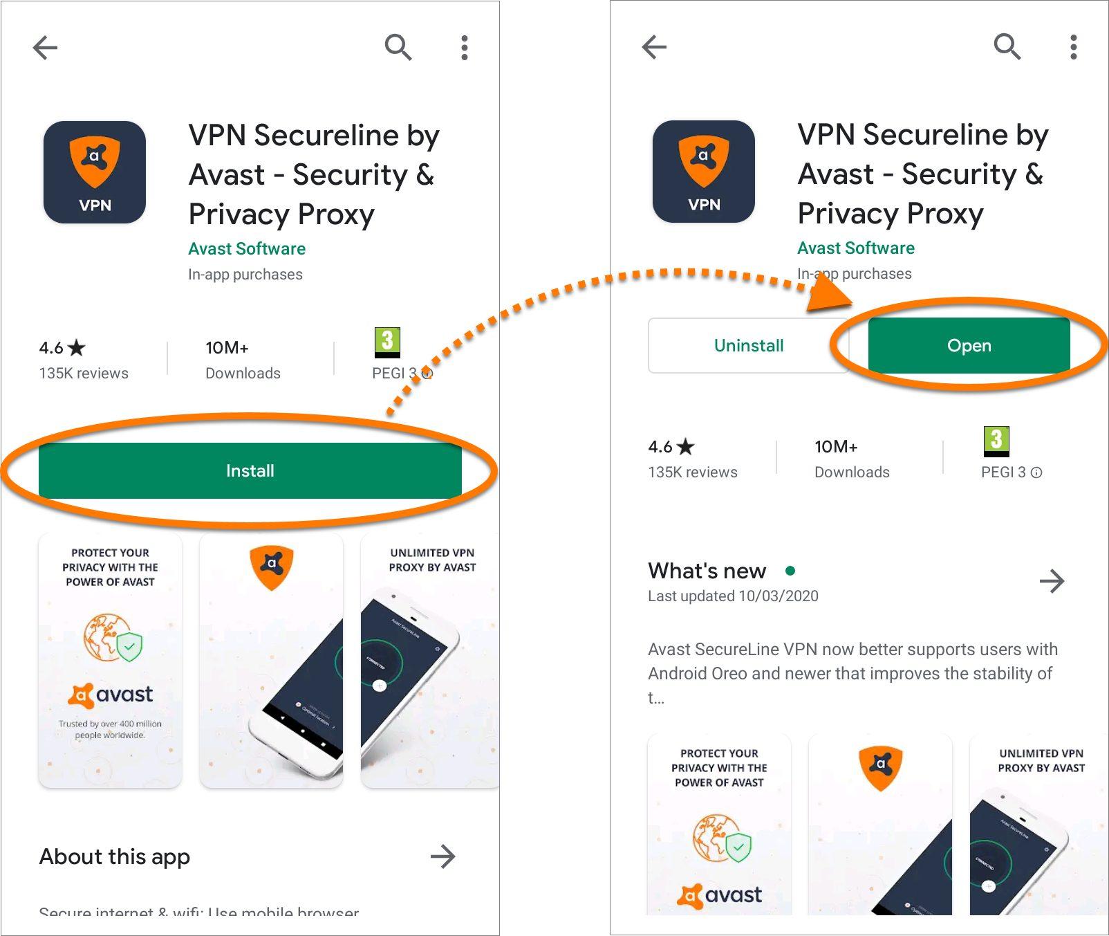 Secureline VPN Android