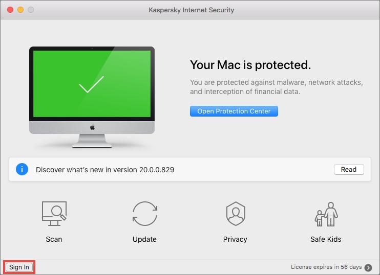 Mac main Kaspersky