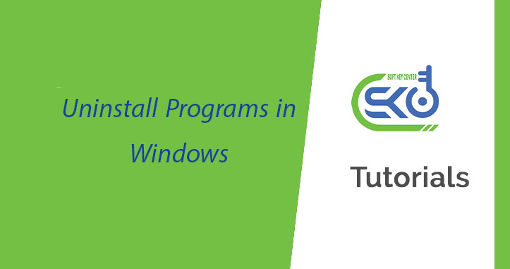 Uninstall Programs in Windows & Uninstall tools for antivirus software