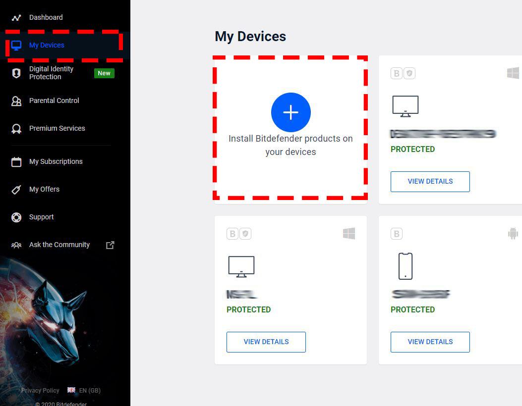 Bitdefender Parental Control on Windows