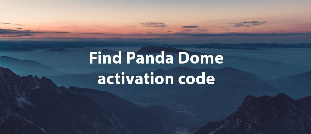 Where can I find Panda Dome activation code?