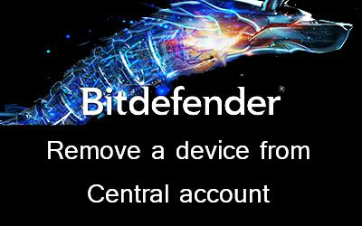 Remove a device from your Bitdefender Central account