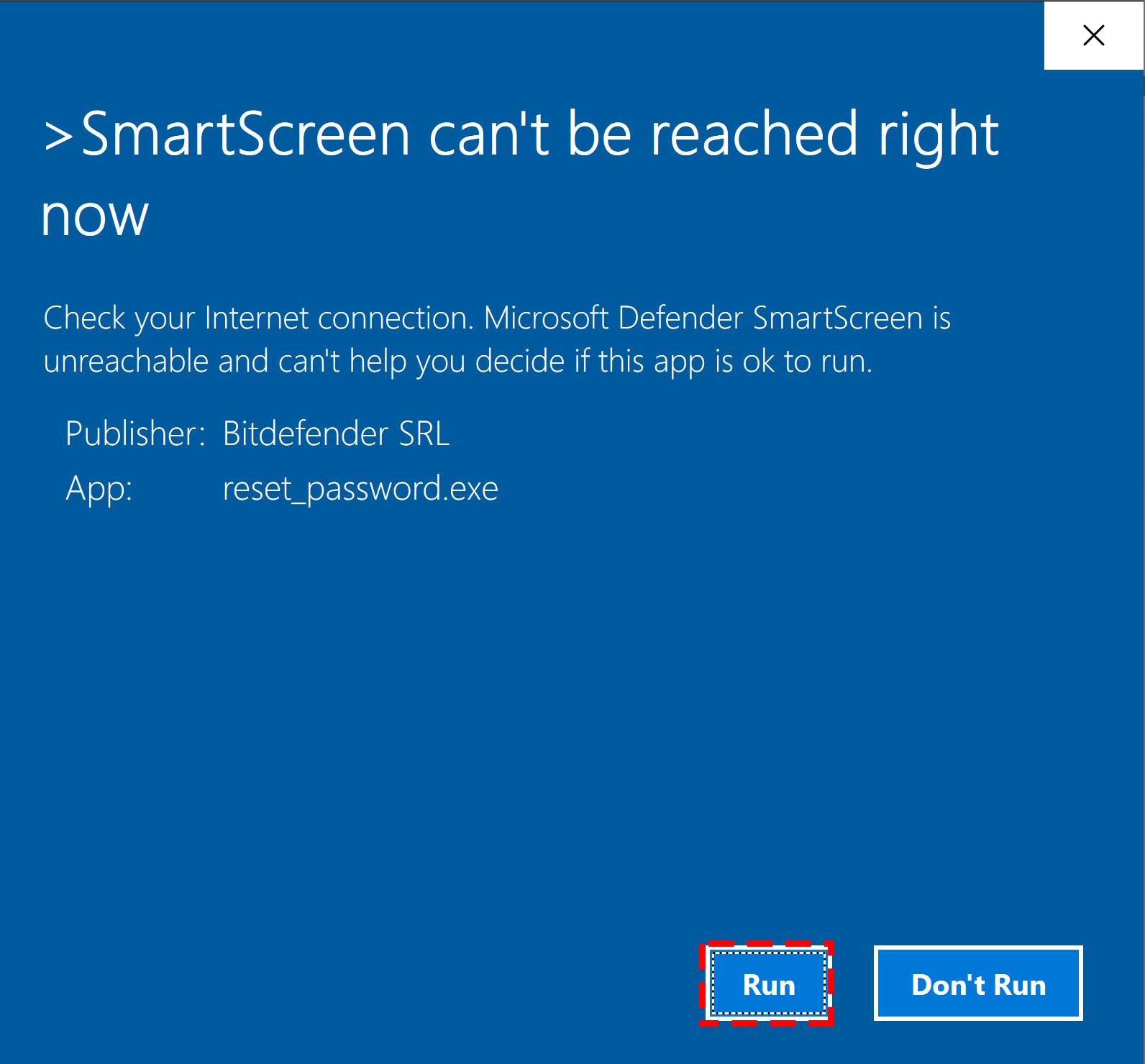 Reset the Bitdefender product password - 1