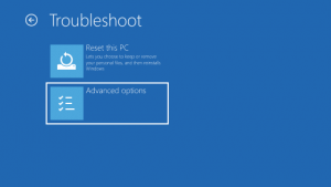 Start your PC in safe mode - Advanced Option