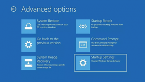Start your PC in safe mode - SrartUp Setting