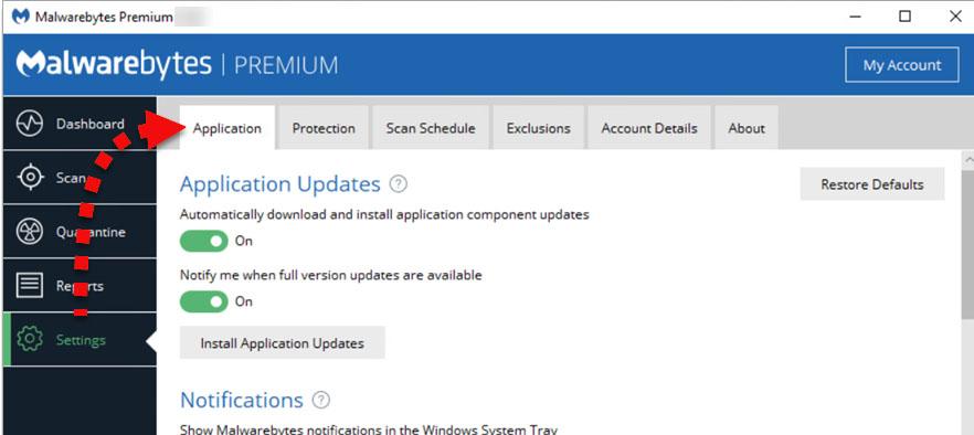 latest version of Malwarebytes for Windows